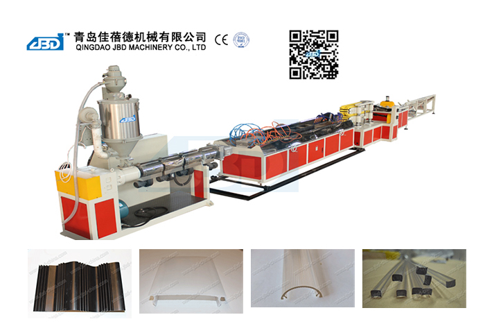 PE, PP, PS, PC, ABS, PMMA Profile Extrusion Line